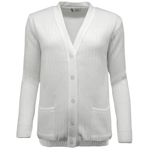 Green Play Ladies Ribbed Cardigan