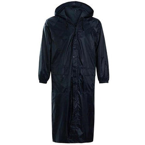 Unisex Long Plain Waterproof Rain Coat