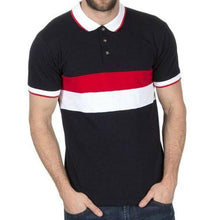 Load image into Gallery viewer, Mens Stripe Pique Polo Shirts