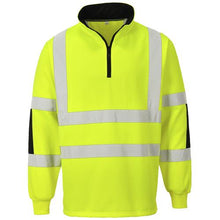 Load image into Gallery viewer, Mens Portwest Hi-Vis Visibility Work Wear Reflective Sweatshirt