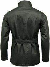 Load image into Gallery viewer, Mens Game Continental Belted Motorcyle Wax Coat