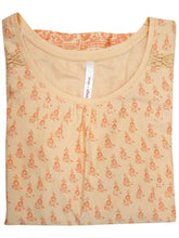 Load image into Gallery viewer, Orange Sheego Floral Lace Insert Cotton Plus Size Top