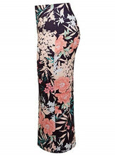 Load image into Gallery viewer, Multi Oriental Floral Pencil High Waist Skirt