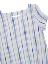 Load image into Gallery viewer, White & Blue Striped Cut-Out Back Jersey Dress