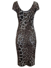 Load image into Gallery viewer, Brown & Grey Multi Animal Print Dress