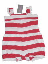 Load image into Gallery viewer, Red Minoti Striped Strappy Playsuit