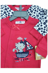 Lily & Jack Red Multi 2Pack Cotton Sleepsuits