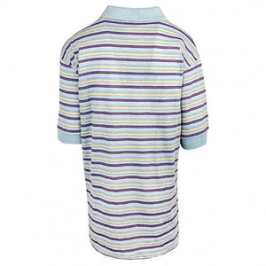 Blue Yellow & Red Multi Stripe Polo T-Shirt Top