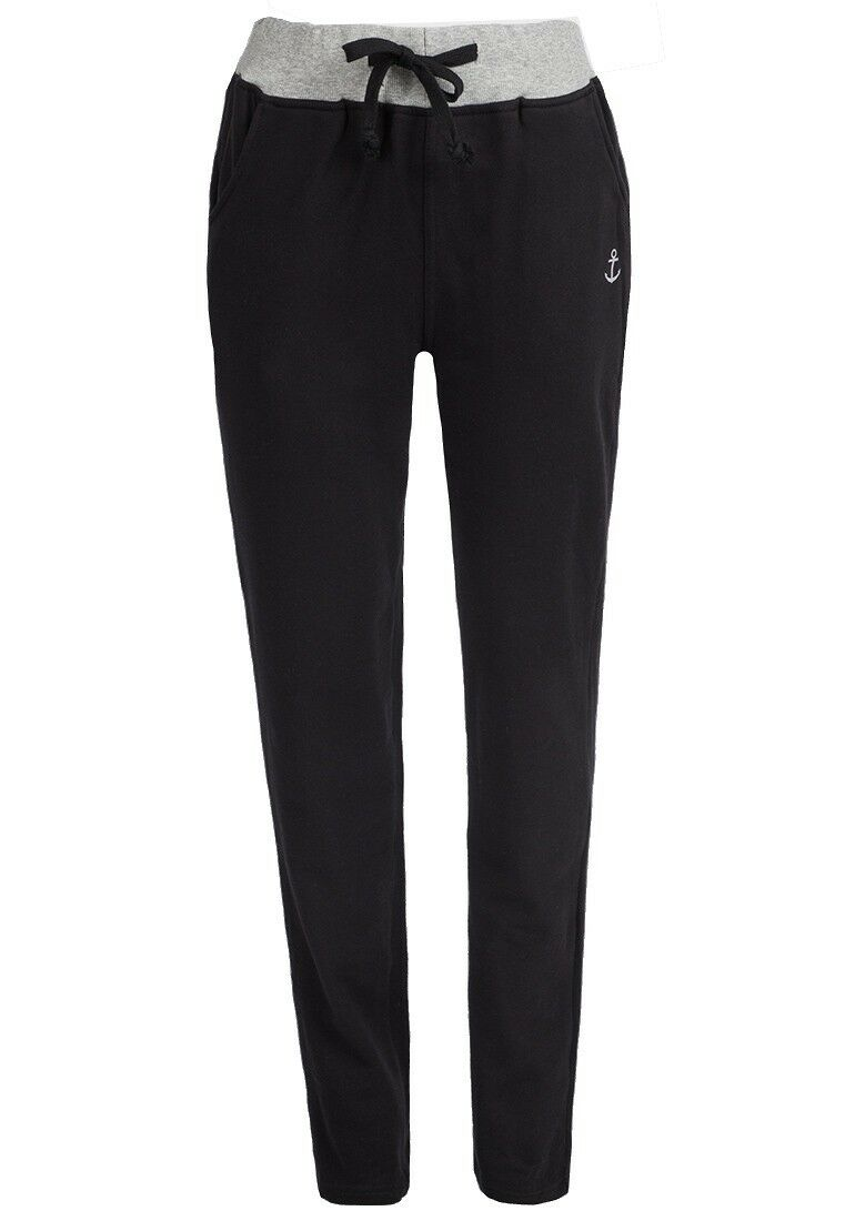 Black Contrast Elasticated Waistband Jogging Pants