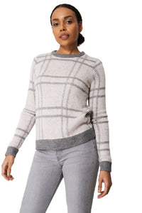 Pink Multi Check Design Soft Knit Jumper