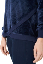 Load image into Gallery viewer, Navy Soft Velvet Sweatshirt