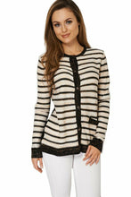 Load image into Gallery viewer, Multi Stripe Lurex Knitted Cardigan