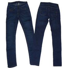 Load image into Gallery viewer, Blue Skinny Fit Stretchy Straight Leg Denim Jeans