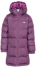 Load image into Gallery viewer, Girls Trespass Potent Purple Tiffy Puffa Jacket