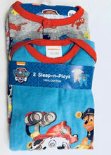 Load image into Gallery viewer, Blue Multi Paw Patrol 2 Pack Cotton Sleepsuit