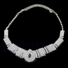 Load image into Gallery viewer, White & Black Crystal Bling Rhinestone Chocker set