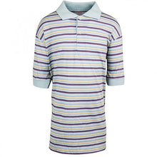 Load image into Gallery viewer, Blue Yellow & Red Multi Stripe Polo T-Shirt Top
