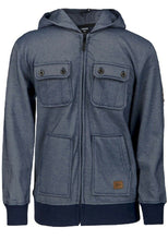 Load image into Gallery viewer, Navy Multi-Pocket Pique Fleece Lined Winter Coat