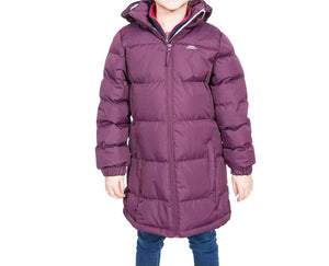 Girls Trespass Potent Purple Tiffy Puffa Jacket