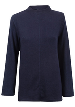 Load image into Gallery viewer, Navy High Neck Soft Snuggly Fleece Relaxed Fit Jumper
