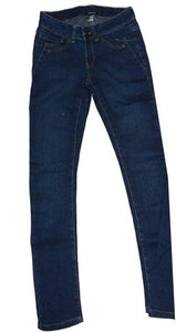 Blue Skinny Fit Stretchy Straight Leg Denim Jeans