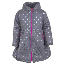 Load image into Gallery viewer, Girls Penelope Mac Grey Polka Dot Coat