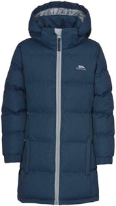 Girls Trespass Navy Tiffy Puffa Padded Quilted School Coat