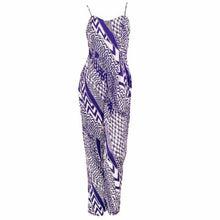 Load image into Gallery viewer, Purple Geometric Print Strappy Jumpsuit