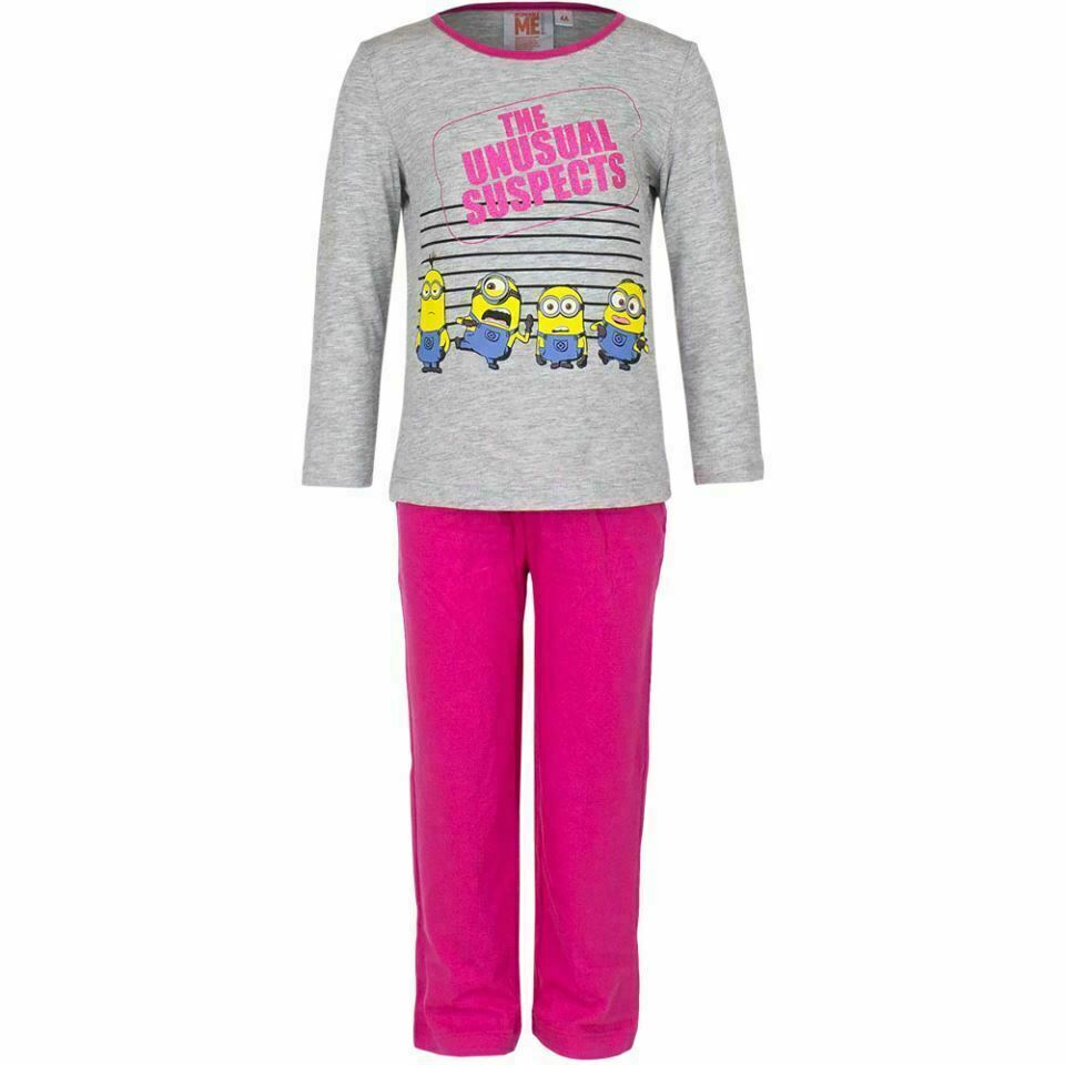 Grey & Pink Minions 'Usual Suspects'  Pyjamas Set