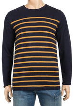 Load image into Gallery viewer, Midnight Blue Stripe Knitted Cotton Jumper