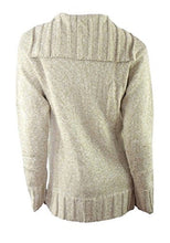 Load image into Gallery viewer, Beige Real Comfort Large Collar Tie Neck Jumper