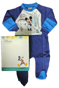 Navy Multi Disney Mickey Mouse Sleepsuit Boxed Gift