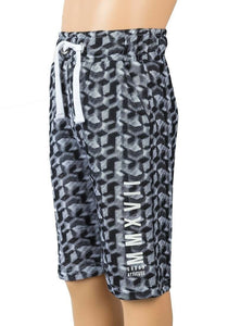 Urban Outlaws Black & White Bermuda Shorts