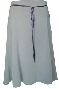 Light Purple A-Line With Ribbon & Bead Tie Belt Skirt