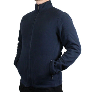 Mens Navy Full Zip Polar Fleece Jacket