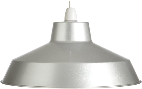 Large Dual Fitting Pluto Metal Lighting Pendant Shades - Silver