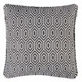 Alpha Geometric Piped Cushion Cover - Graphite