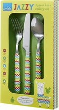Amefa Yummy For Kids 3 Piece Cutlery Set Designed for little Hands - 5 designs