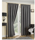 Balmoral Thermal Interlined Pencil Pleat Curtains - Grey