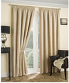 Balmoral Thermal Interlined Pencil Pleat Curtains - Natural
