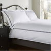 Behrens 300TC 100% Cotton Bloomsbury Duvet Cover Set - White