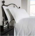 Behrens 300TC 100% Cotton Pimlico Duvet Cover Set - White