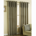Classic Pleated Band Eyelet Curtains - Mink