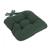 Eton Piped Chunky Seat Pad Cushion - Green