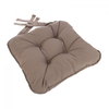 Eton Piped Chunky Seat Pad Cushion - Natural