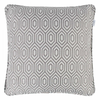Alpha Geometric Piped Cushion Cover - Fossil