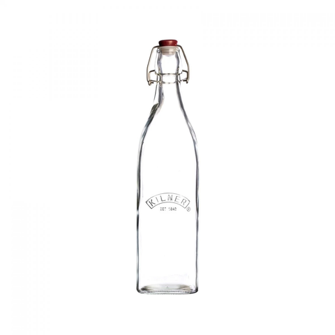 Kilner Clip Top Square Bottle - 0.55L