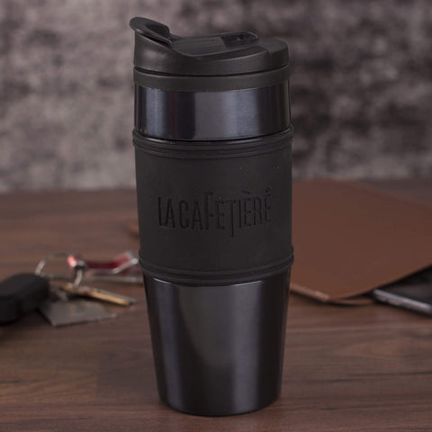 La Cafetiere Travel Flask 450ml - Gun Metal Grey