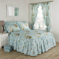 Vantona Country Madeleine Quilted Fitted Bedspread - Duck Egg