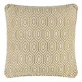 Alpha Geometric Piped Cushion Cover - Mustard
